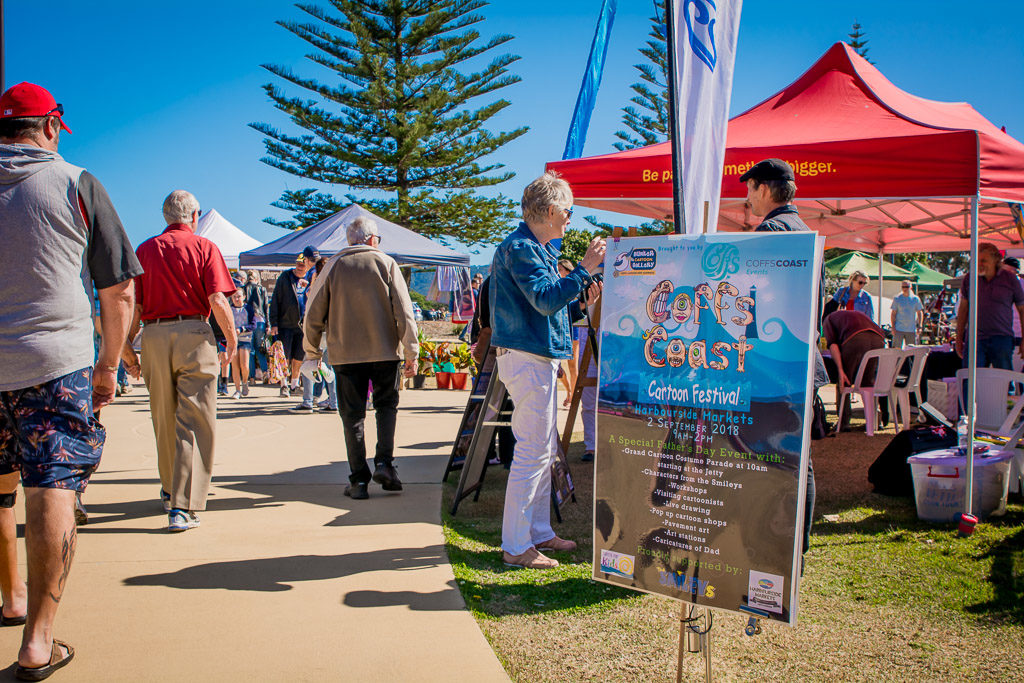 Coffs Coast Cartoon Festival 2018 Harbourside Markets