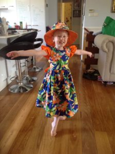 Nannas Childrens Clothing Matching outfit, hat and dress Harbourside Markets Coffs Harbour
