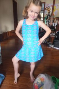 Nannas Childrens Clothing single piece swimsuit and skirt Harbourside Markets Coffs Harbour
